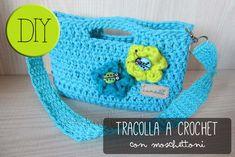 LUNAdei Creativi | Tracolla a Crochet con Moschettoni | http://lunadeicreativi.com