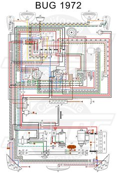 wiring diagram vw beetle sedan and convertible 1961-1965 ... 2006 pontiac wave wiring diagram #13