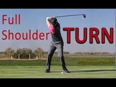 EVERYONE can make a FULL SHOULDER TURN in golf! - YouTube