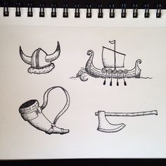 Some more doodles for the day! #drawing #doodle #art #sketch #sketchbook #viking #Scandinavian #nordic #norse #horn #helmet #ship #axe #penandink #micron #bw #dots #dotwork #tattoo #tattoodesign #cartoon #vikingship #thenorth