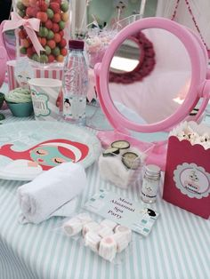 Spa Birthday Party Ideas | Photo 2 of 34 Mirrors!