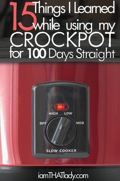 Amazing tips for using the crockpot - I love this logic and it makes crockpotting even easier!!