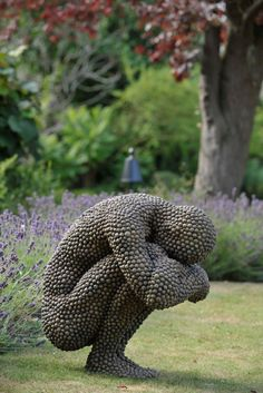 made from: fallen material acorns, beechnut casings, leaves, bark, sycamore keys - artist Anna Gillespie