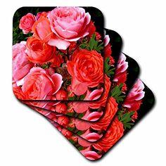 Amazon.com   Costasonlineshop Photography Roses - Red Roses - set of 4 Coasters - Soft (cst_234412_1): Coasters