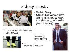 "Sid the ""not so"" kid Hockey Teams, Hockey Players, Ice Hockey, Funny Hockey Memes, Lets Go Pens, Pittsburgh Penguins Hockey, Win Or Lose, Sidney Crosby, Sports Memes"