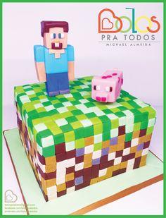Bolo Minecraft - Bolos Pra Todos bolospratodos@gmail.com
