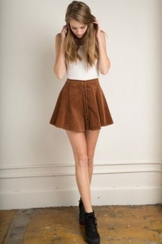 Brandy ♥ Melville | Brya Corduroy Skirt, How would you accessorize this? http://keep.com/brandy-melville-brya-corduroy-skirt-bottoms-clothing-by-kasandra/k/2cCnPzABLW/