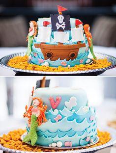 Mermaids AND Pirates Cake!