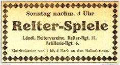 Original-Werbung/ Anzeige 1926 - REITER - SPIELE / MÜNSTER - ca. 90 x 45 mm