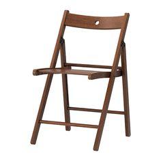 IKEA - ТЕРЬЕ, Стул складной, Стул можно сложить, что позволяет экономить место при хранении.Благодаря отверстию в спинке стул можно повесить на стену, что позволяет экономить место при хранении.
