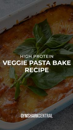 Baked Pasta Recipes, Veggie Recipes, Healthy Recipes, High Protein Vegetables, Veggies, Shake Recipes, Clean Recipes, Vegetable Pasta Bake, Veggie Dinner