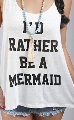 be a mermaid tank - ivory