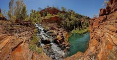 Karijini National Park - Fortescue Falls, Dale's Gorge, Circular Pool - ancient geologic formations