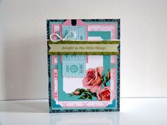 Creative projects from the BasicGrey DT using the new Tea Garden Collection Basic Grey, South Pacific, Little Things, Scrapbook Paper, Eye Candy, Card Making, Tea, Frame, Projects