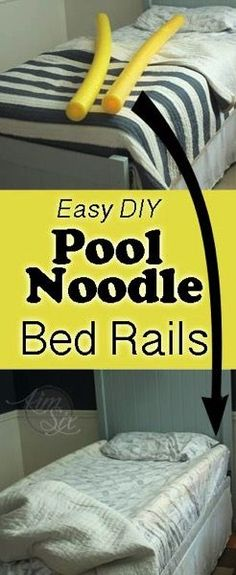 DIY Toddler Bed Rails From Pool Noodles
