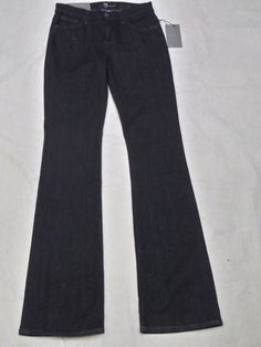 7 FOR ALL MANKIND mid rise bootcut AP34443A blue denim women's jeans SIZE 26