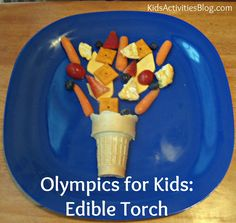 Olympics for Kids- Edible Torch by Deirdre at Kids Activities Blog