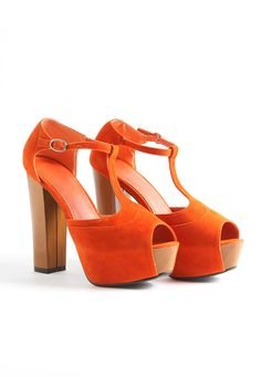 Norema T Bar Suede Platform Shoes