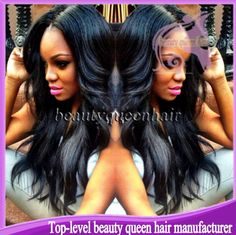Find More Wigs Information about Cheap long black middle part super wavy 100 virgin glueless lace front & full lace human hair wigs for black women free shipping,High Quality Wigs from Top-level beauty queen hair manufacturer on Aliexpress.com