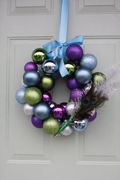 I <3 my peacock christmas wreath!!