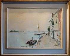 Venice Landscape - Fioravante Seibezzi 1961 Italian Paintings, Landscape, Art, Venice, Art Background, Kunst, Landscaping, Art Education