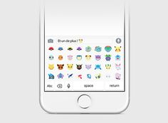 two french designers have proposed a keyboard of emoticons that would allow people to communicate using pokémon characters.