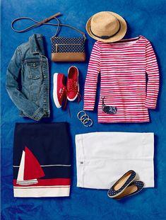 Whale & Stripes Tee - Talbots