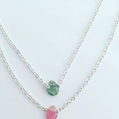 Double strand watermelon tourmaline on silver for the Royal Academy of Dance by Lily Flo Jewellery