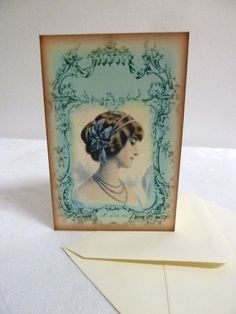 Antique Victorian Style Lady's High Fashion Elaborate by HoboCameo