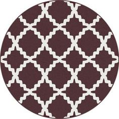 Metropolis 1038 Brown Contemporary Area Rug (7'10 Round)