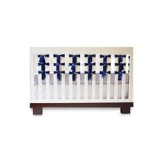 Oliver B Navy 3-Piece Crib Bedding Set and Accessories - buybuyBaby.com