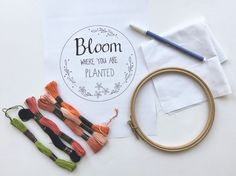 Embroidery for Beginners: How to Embroider Letters [+ FREE Template! Diy Embroidery Letters, How To Embroider Letters, Learning To Embroider, Simple Embroidery, Types Of Embroidery, Embroidery Hoop Art, Hand Embroidery Patterns, Embroidery Stitches, Crochet Stitches