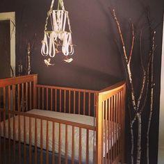 Baby Boy, Nursery, Deer Theme, DIY Mobile, Birch Tree Decor