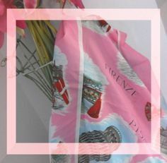 Beautiful Italian Scarf Cottage Chic Pinks by justjunkin2 on Etsy, $16.00