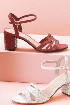 Update your collection of women's footwear with smart shoes & boots, while sandals lend a versatile finish. Block Sandals, Block Heels, Holiday Shoes, Weave Styles, Stylish Sandals, Buy Roses, Plait, Signature Collection, Leather Wedges