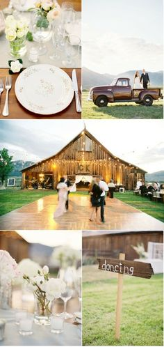 country wedding ideas :)