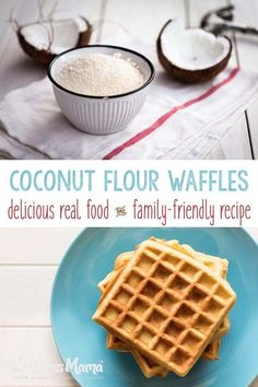 These coconut flour waffles are made with coconut flour and eggs for a protein pack and healthy breakfast. Low carb and grain free. Coconut Flour Waffles, Low Carb Waffles, Healthy Waffles, Coconut Flour Recipes, Keto Waffle, Waffle Recipes, Waffle Iron, Breakfast Waffles, Breakfast Recipes