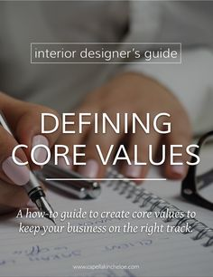 Defining your core values as an interior design business may not be high on your list of priorities, but they can help keep you on course and focused on your goals. #interiordesignbusiness #cktradesecrets