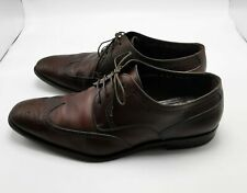 Ferragamo Mens Shoes Oxford Lace Up Brown Leather Size 11.5 2E Italy #mensfashion $59.99
