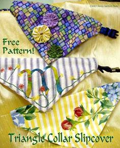 Free dog collar slip pattern