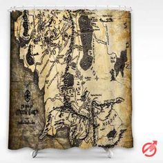 Cheap Movie The Lord of the Rings fantasy map lotr Shower Curtain