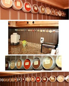 DIY Spice Rack that doesn't take up counter space