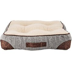 Bond  Co Grey Cable Knit Pillow Dog Bed 21 W x 21 L Small Gray *** Find out more about the great product at the image link. (Note:Amazon affiliate link)