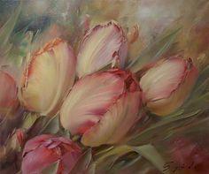 Ссылка на видео процесса работы над картиной http://youtu.be/aZMTteA_1Yo Холст / масло 2014 г. 40/50 из альбома «Цветы.»