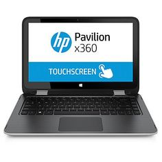 HP  Pavilion x360 2-in-1 13.3-Inch Touchscreen Laptop - Intel Core  i3-5010U/ 4GB Memory/ 500GB HDD/ Webcam/Windows 8.1/Silver - Work in notebook mode, watch in stand mode, play in tent mode, go in tablet mode. This innovative convertible PC has the flexibility to keep up with all your needs..Work in notebook mode, watch in stand mode, play in tent mode, go in tablet mode..No matter which way you use your innovative... - http://ehowsuperstore.com/bestbrandsales/laptop/hp-pavi