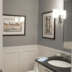 Powder Room Wainscoting Design Ideas Pictures Remodel And Decor