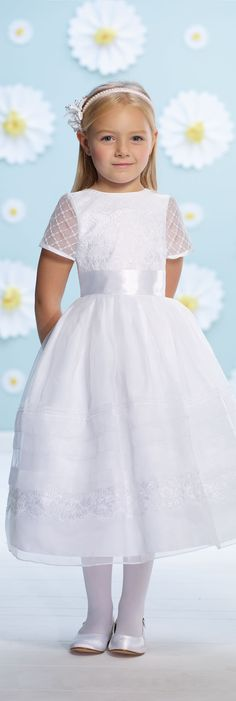 Joan Calabrese for Mon Cheri - Style No. 116362 #flowergirldresses