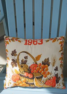 1963 Was A Good Year, Vintage Calendar Tea Towel Handmade Pillow. $12.50, via Etsy.