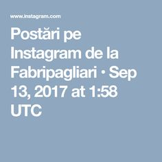 Postări pe Instagram de la Fabripagliari • Sep 13, 2017 at 1:58 UTC