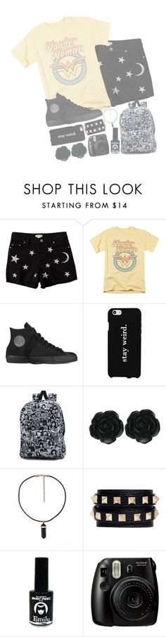 """""""//•All I see is good times disappearing•\\"""" by my-happy-little-pill ❤ liked on Polyvore featuring Savannah, Converse, LG, Vans, Dollydagger, Valentino and EMILY THE STRANGE"""
